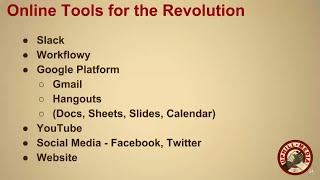 Online Tools for the Revolution - Overview