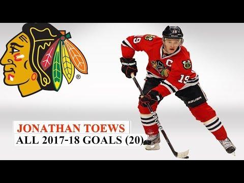 Jonathan Toews (#19) All 20 Goals of the 2017-18 NHL Season