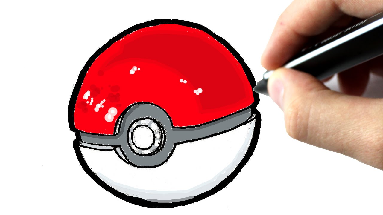 Comment dessiner une pokeball pokemon go youtube - Dessiner pokemon ...
