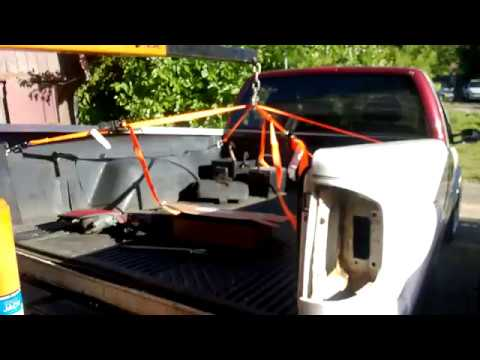 How To Remove A Truck Bed With An Engine Hoist One Person