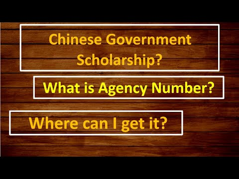 What is Agency Number? | Chinese Government Scholarship?