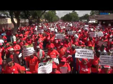 Sadtu march in Pretoria