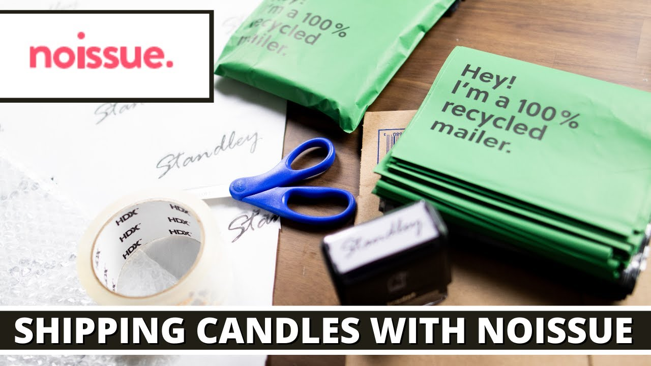 Sustainable candle packaging with products from @noissue How I ship my candles
