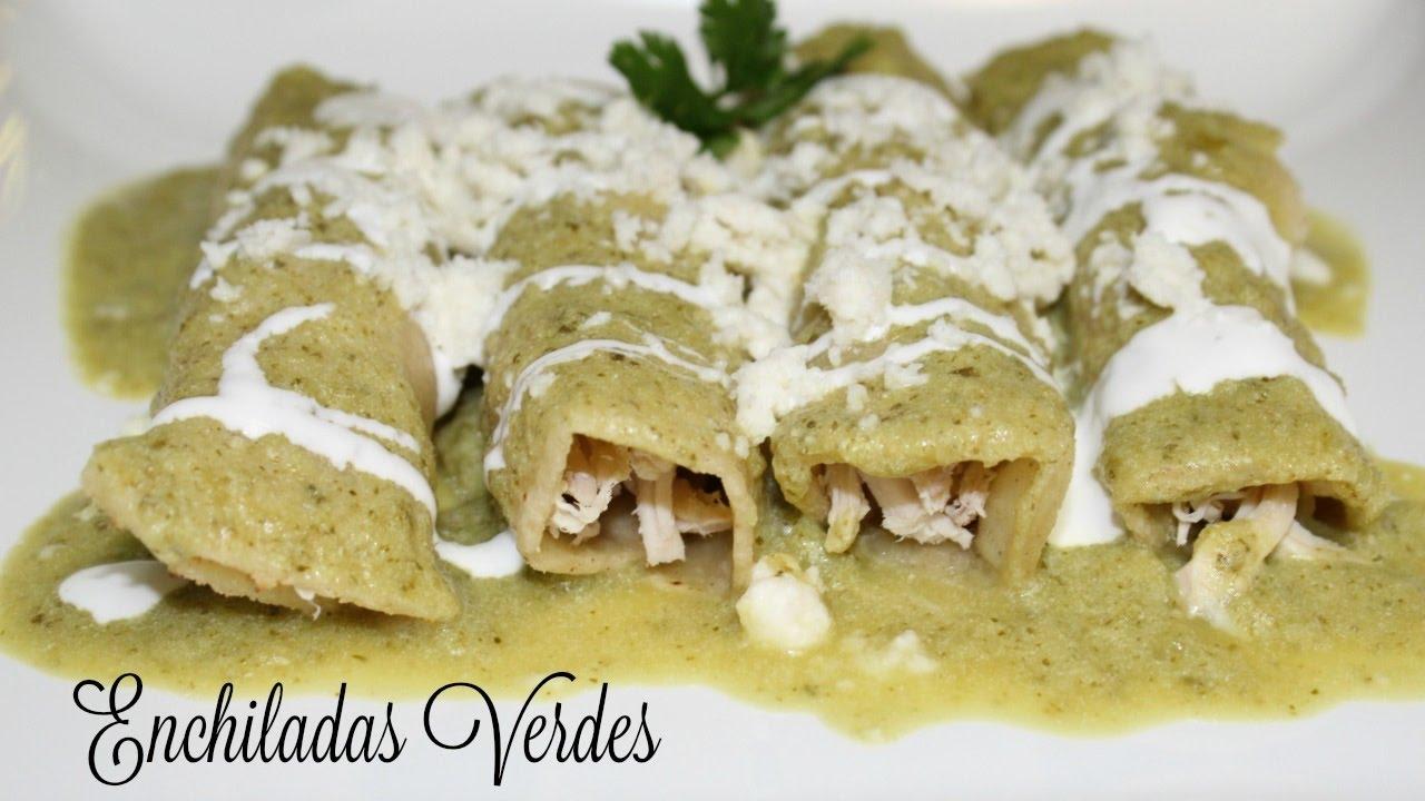 Enchiladas Verdes (How to make Green Enchiladas ...
