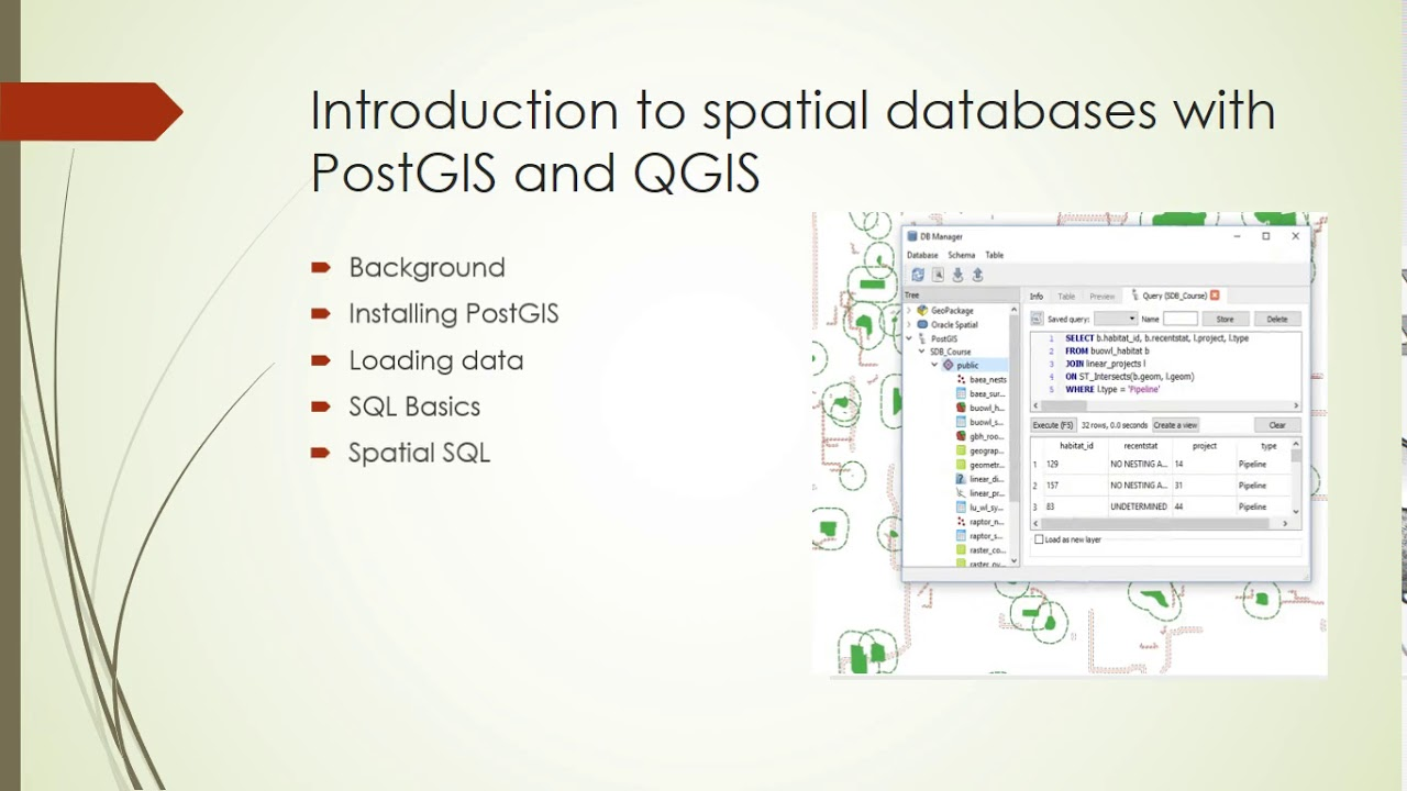 New Course: Introduction to spatial databases with PostGIS and QGIS