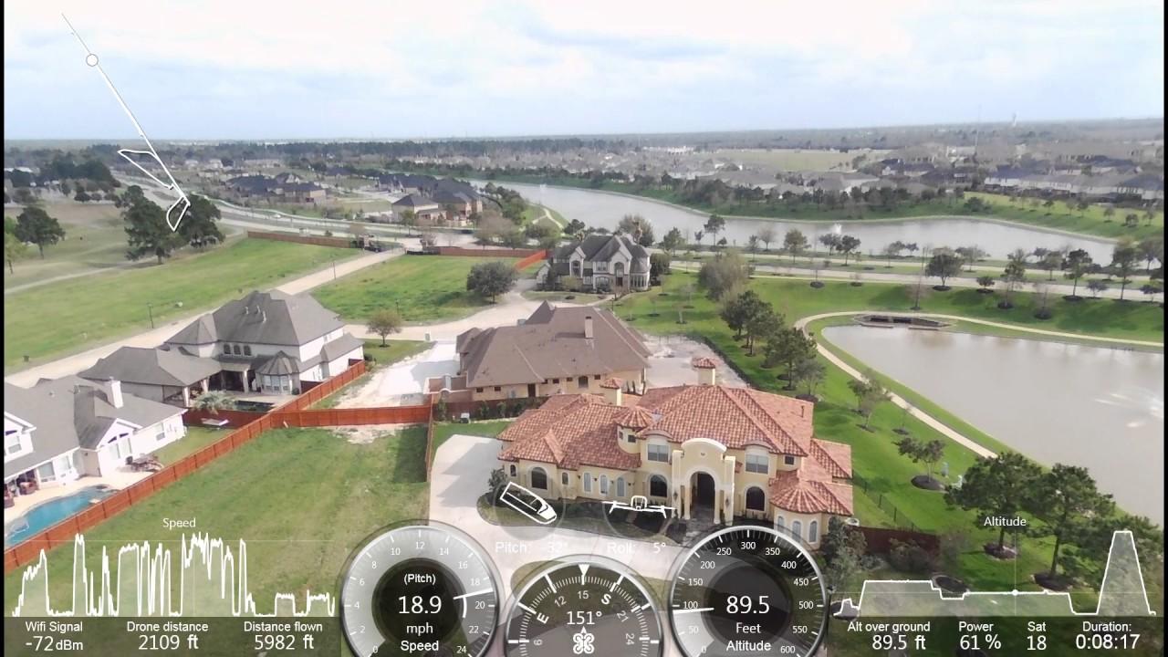 Parrot Bebop drone 2 Skycontroller 2 Range Test Residential