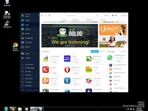 How To Download App  On Your Computer Directy Into Your Android Phone Witth (mobogenie)