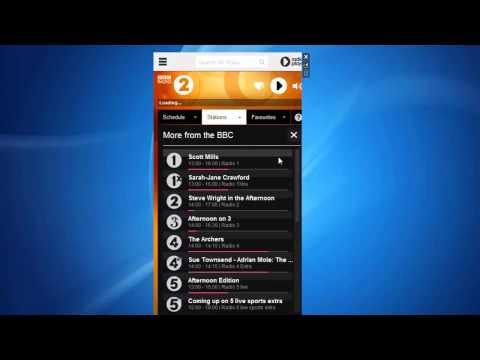 BBC Radio 2 Player Windows 7 Sidebar Gadget