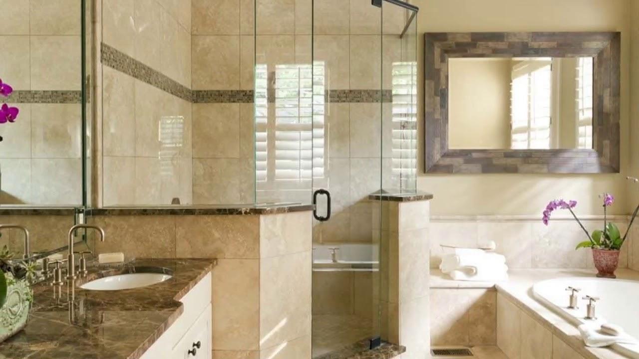 bathroom paint ideas with travertine tile designs