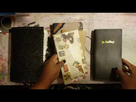 Process Video:  Decorating Insert Covers || Traveler's Notebooks