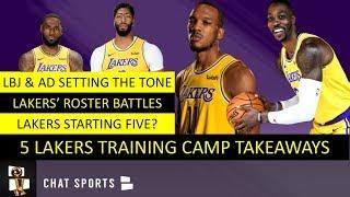 Lakers Training Camp: Lakers' Starting Lineup, Kyle Kuzma Injury & Dwight Howard vs. JaVale McGee