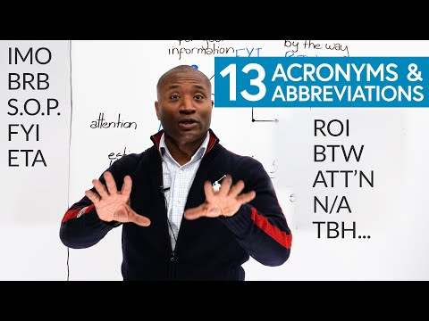 13 Common ACRONYMS & ABBREVIATIONS in English