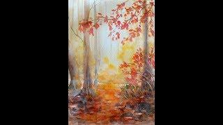 Осень .  Акварель