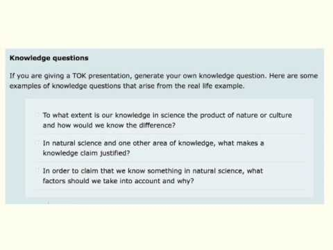 TOK help please; knowledge issues?