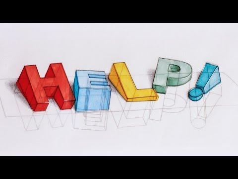 how i draw 3d text help im sinking 3d typography process - How To Draw 3d Diagrams