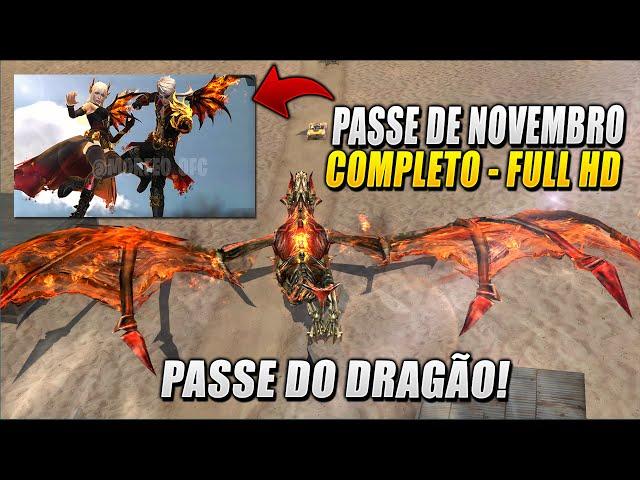 PASSE DE ELITE DE NOVEMBRO COMPLETO! PASSE DOS DRAGÕES! FULL REVIEW NOVEMBER ELITE PASS! DRAGON PASS