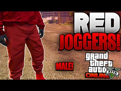 "GTA 5 Online - *MALE* HOW TO OBATIN ""RED JOGGERS ON MALE!"" *AFTER PATCH 1.40* (GTA 5 RED JOGGERS) - Duur: 3:23."