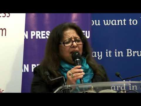 Tahira Rubab at Brussels Mushira by Pakistan press club Belgium