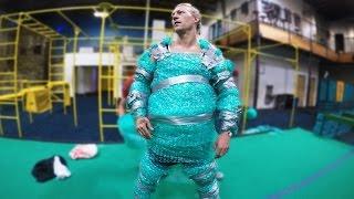 Bubble Wrap Suit Trampoline Tricks!
