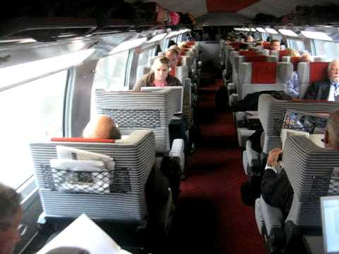 Inside First Class Car On Sncf Tvg High Speed Train To