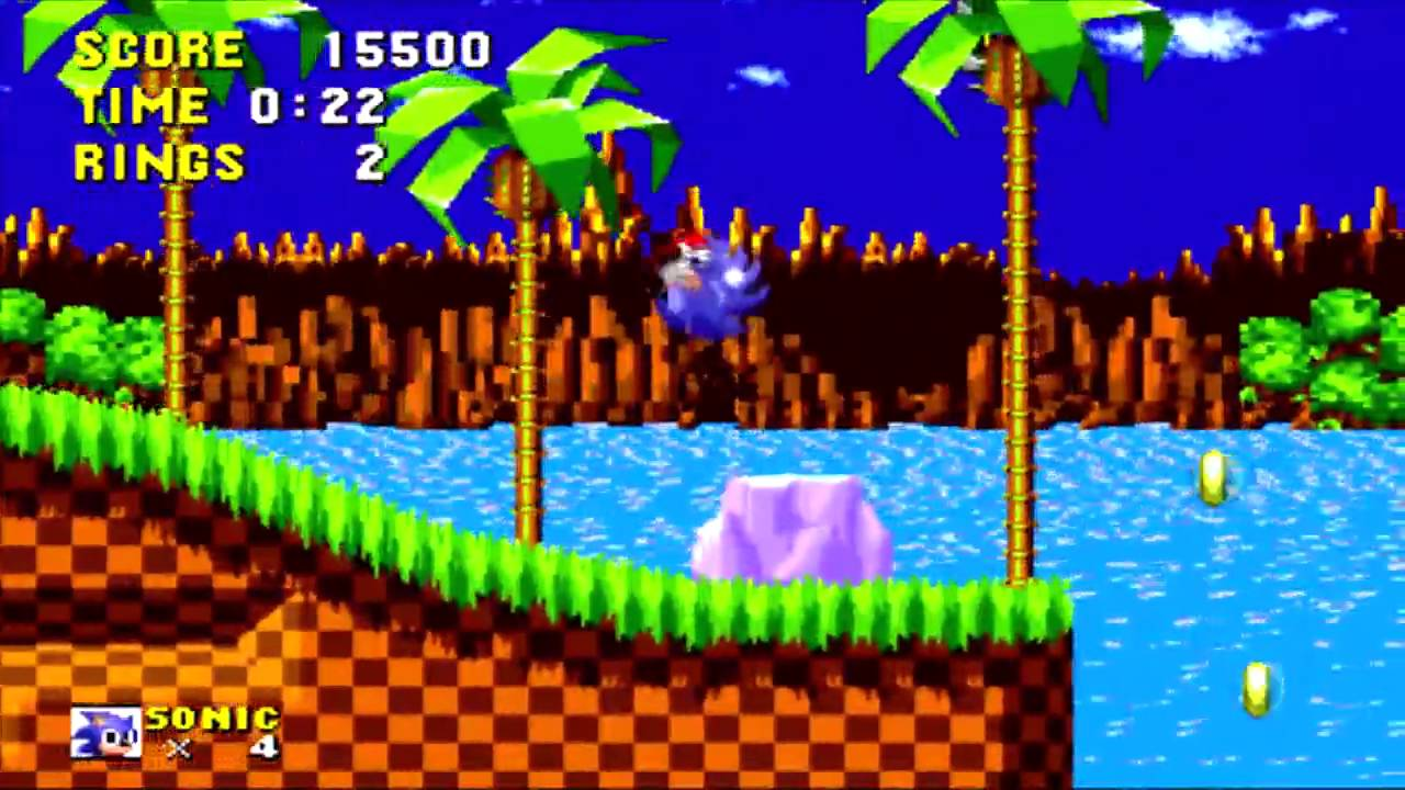 Let's Play - Sonic The Hedgehog PC HD - Green Hill Zone Act 1-3 w/Commentary
