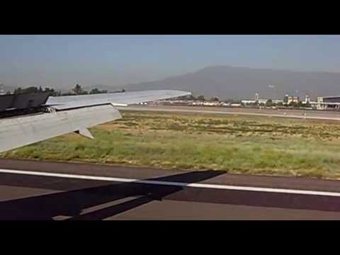 Landing in Santiago, LAN Airlines, Santiago, Chile, South America