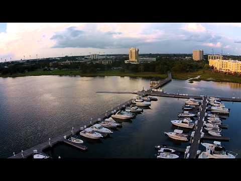 Aerial shots Charleston South Carolina
