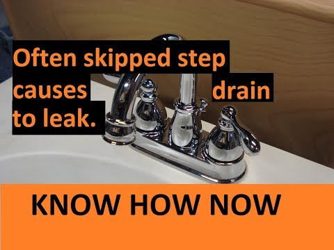 New Bathroom Sink Drain Leaks at Threads