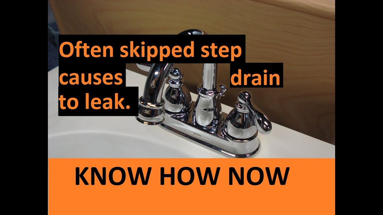 New Bathroom Sink Drain Leaks At Threads Youtube