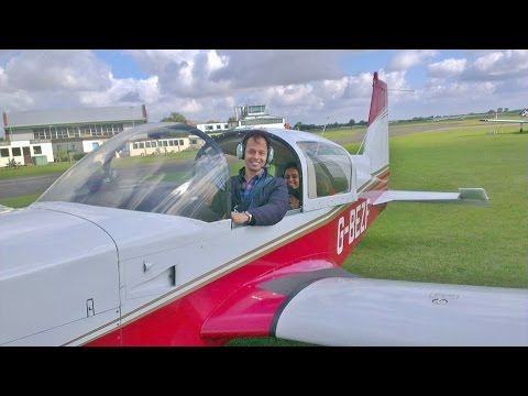 Flying a Grumman AA5 at Cranfield airport