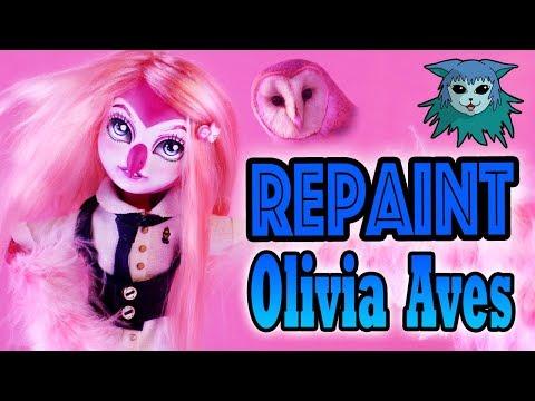 Doll Repaint: Olivia Aves Barn Owl Divus Ooak custom
