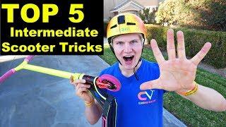 TOP 5 INTERMEDIATE SCOOTER TRICKS!