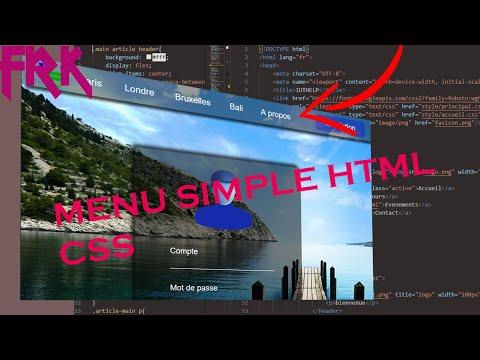 MENU SIMPLE HTML CSS