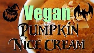 (4 Ingredient) Vegan Pumpkin Nice Cream | Cooking With Karma Ep. 1