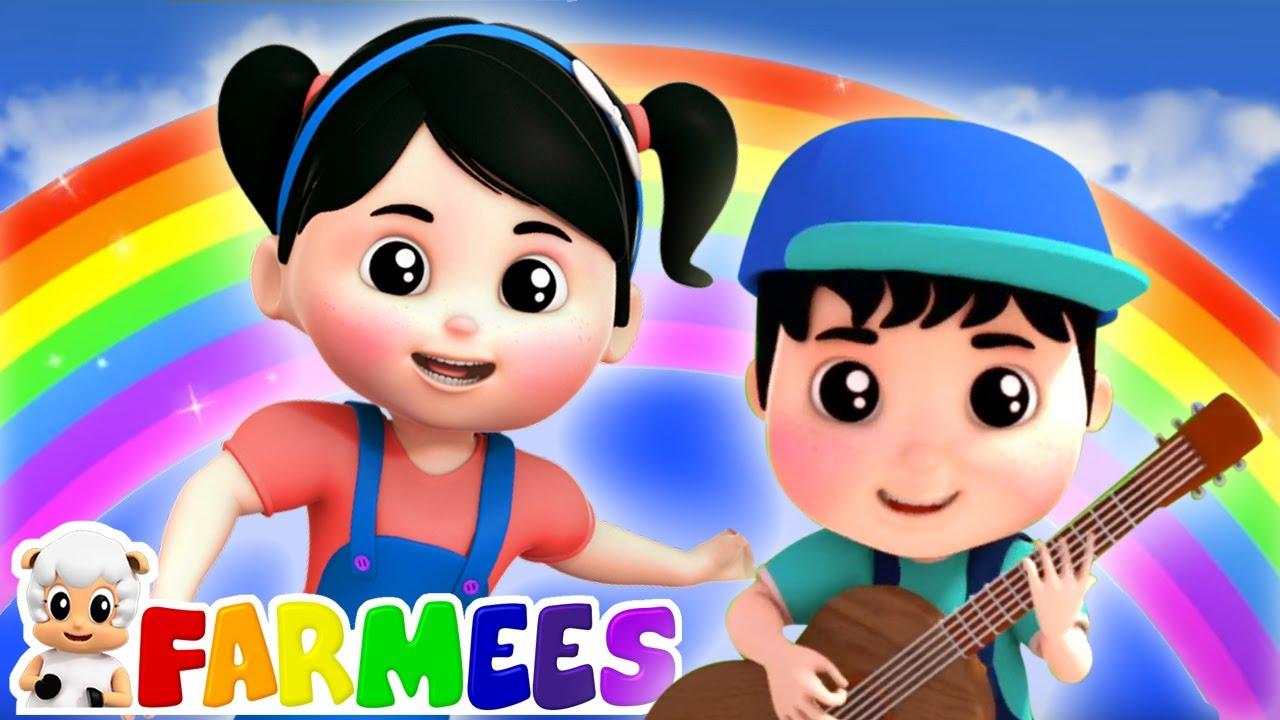 รุ้งเพลงสี | เพลงเด็กและการ์ตูน | ภาพเคลื่อนไหว | Farmees Thailand | วิดีโอการศึกษา