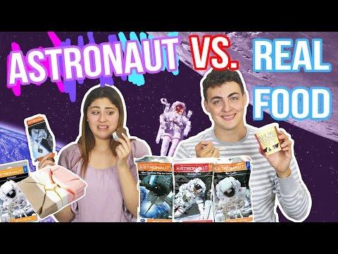 ASTRONAUT VS REAL FOOD CHALLENGE | gross food | Just Ameerah
