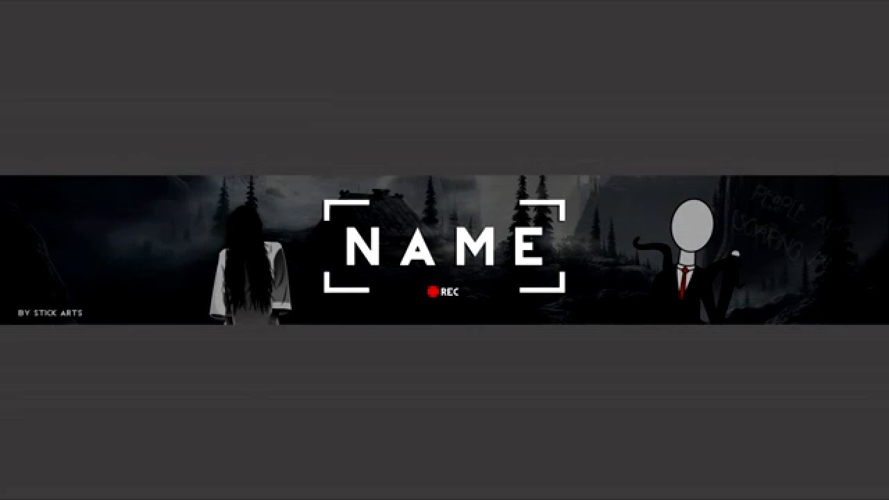 free horror youtube banner template youtube