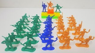 Plastic Army Men Toys Unboxing   Green Men Army Toys   Kids Army Toys