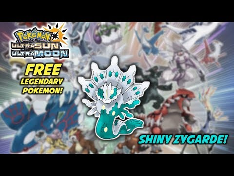 Legendary Pokemon Distributions Coming Soon! Shiny Zygarde! Pokemon Ultra Sun and Ultra Moon