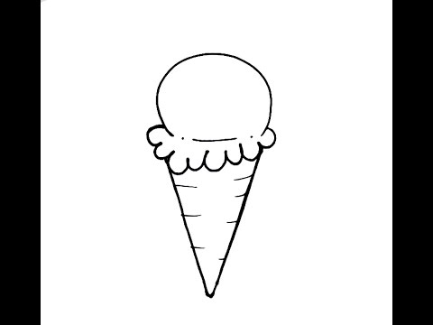 How To Draw A Simple Ice Cream Cone In Under 2 Minutes Beginner