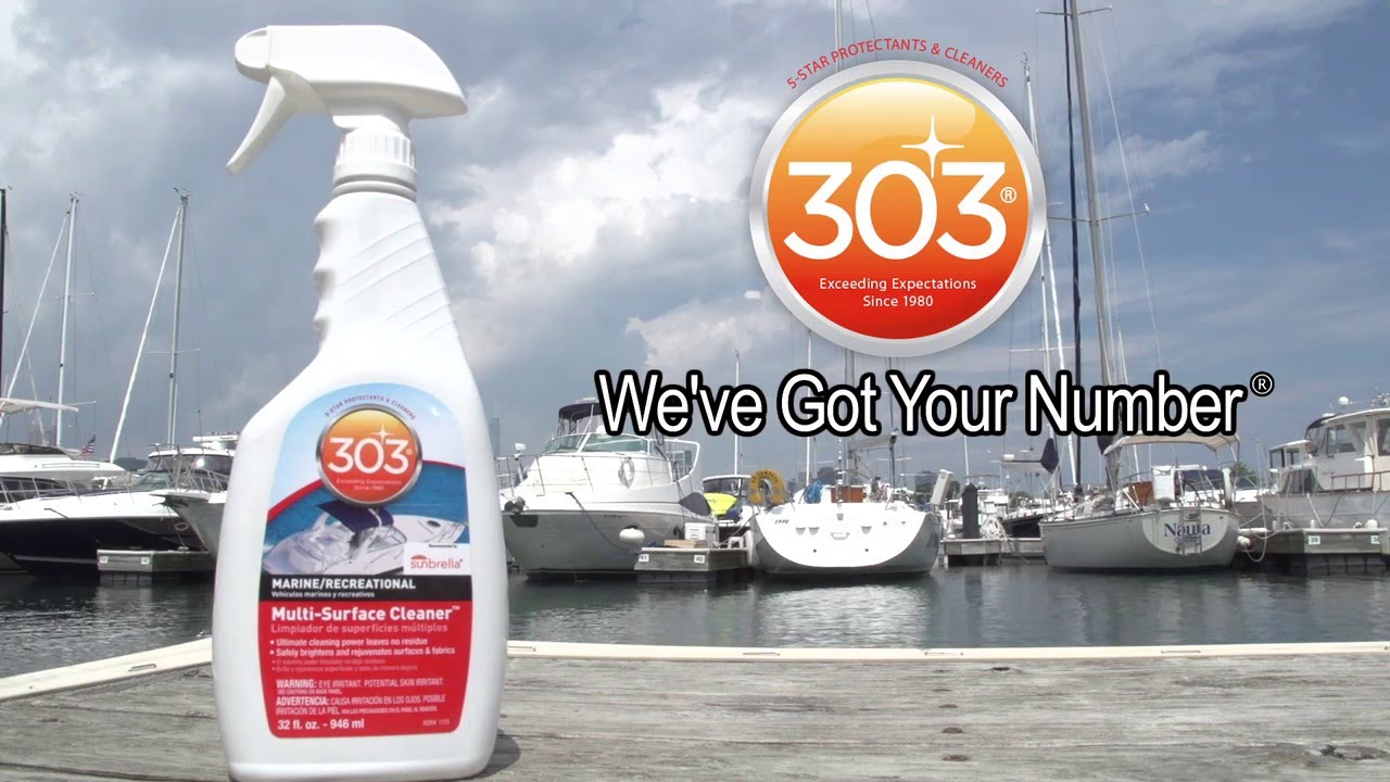 Keep your boat clean with 303 marine recreation multi surface cleaner youtube