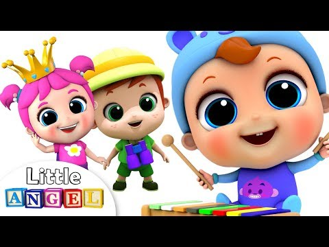 🔴 LIVE Nursery Rhymes on Little Angel: Wheels on the Bus, Itsy Bitsy Spider and More Kids Songs