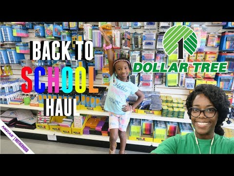 DOLLAR TREE BACK TO SCHOOL HAUL 2018!🏫✏️🎒