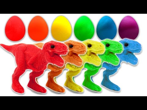 Thumbnail: Learn Colors with Dinosaurs Play Doh Surprise Eggs for Children and Toddlers