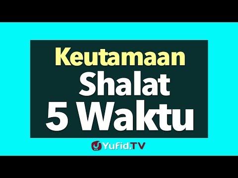 Keutamaan Shalat 5 Waktu Poster Dakwah Yufid Tv Youtube