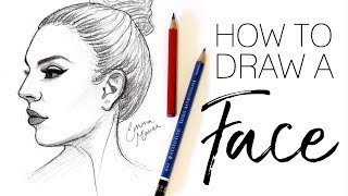 HOW TO DRAW A FACE (Profile View) // Emma Maree