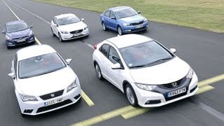 Seat Leon, Skoda Rapid, Honda Civic, Hyundai i30, Volvo V40 im Test