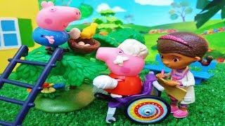 ❤ PEPPA PIG ❤ y GEORGE PIG AYUDAN A UN PAJARO | Juguetes De Peppa Pig