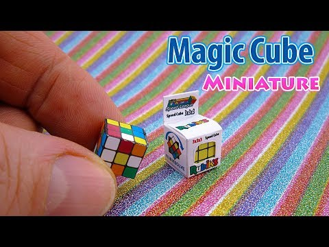 DIY Miniature Cube Rubik for Barbie and American Girl Doll | DollHouse