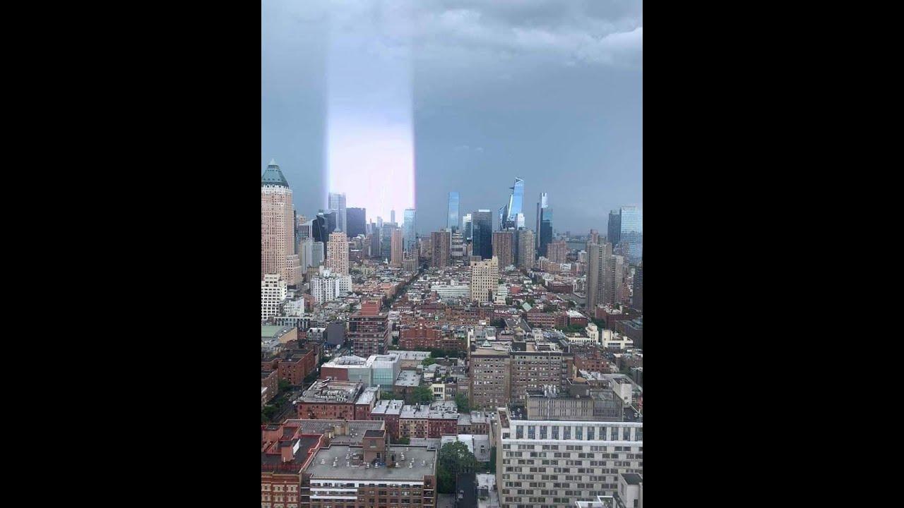 CONEXÃO MAGNÉTICA COM NIBIRU? FEIXES DE LUZ E RAIOS ATINGEM A CIDADE DE NEW YORK!